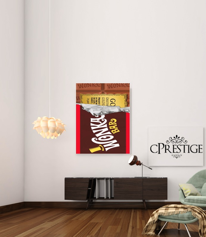 Willy Wonka Chocolate BAR for Art Print Adhesive 30*40 cm
