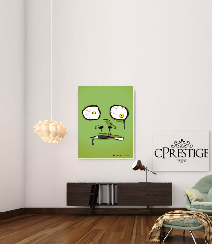 Zombie Face for Art Print Adhesive 30*40 cm