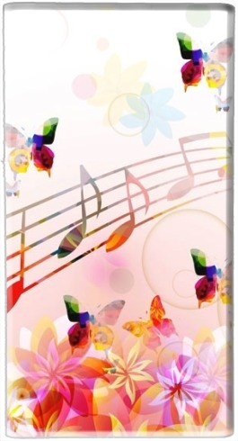 Musical Notes Butterflies for Powerbank Universal Emergency External Battery 7000 mAh
