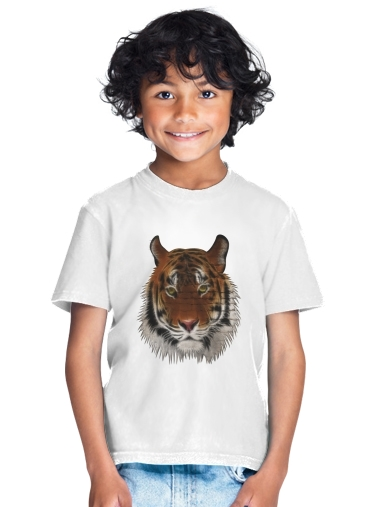 Abstract Tiger for Kids T-Shirt