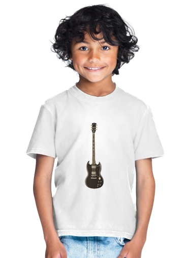 AcDc Guitare Gibson Angus for Kids T-Shirt