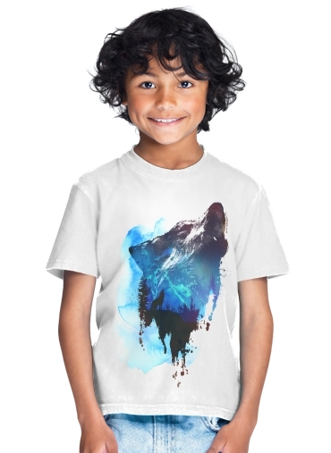 Alone as a wolf for Kids T-Shirt
