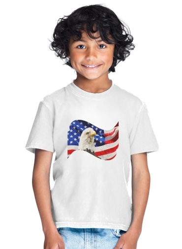 American Eagle and Flag for Kids T-Shirt