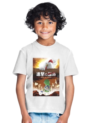 Attack On Chicken for Kids T-Shirt