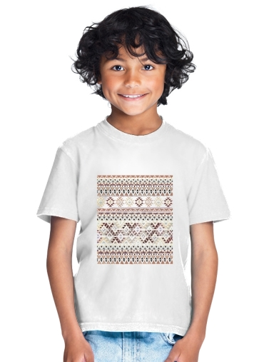 BROWN TRIBAL NATIVE for Kids T-Shirt