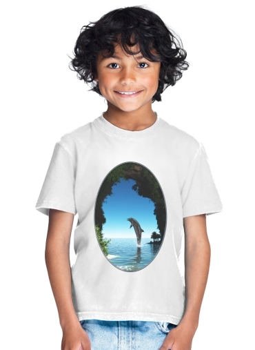 Dolphin in a hidden cave for Kids T-Shirt