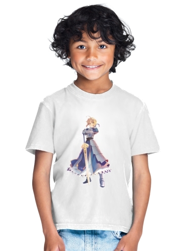 Fate Zero Fate stay Night Saber King Of Knights for Kids T-Shirt