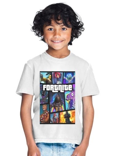 Fortnite - Battle Royale Art Feat GTA for Kids T-Shirt
