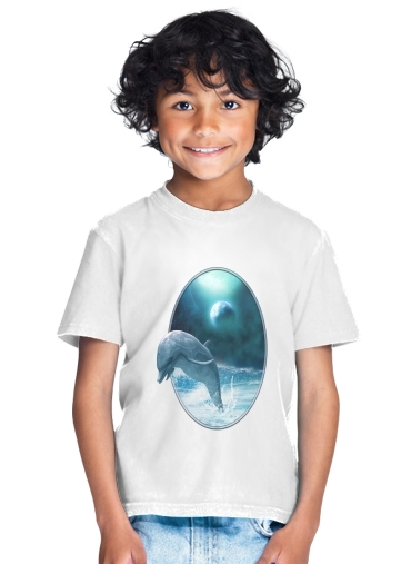 Freedom Of Dolphins for Kids T-Shirt