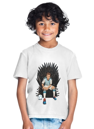 Game of Thrones: King Lionel Messi - House Catalunya for Kids T-Shirt