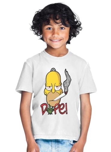 Homer Dope Weed Smoking Cannabis for Kids T-Shirt