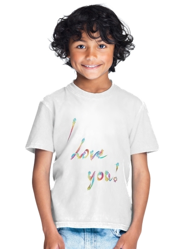 I love you - Rainbow Text for Kids T-Shirt