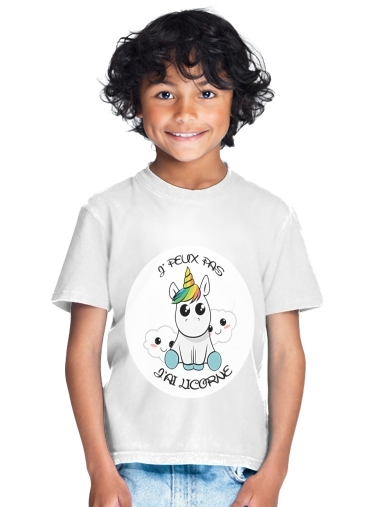Je peux pas j'ai licorne for Kids T-Shirt