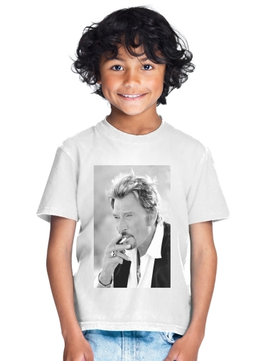 johnny hallyday Smoke Cigare Hommage for Kids T-Shirt