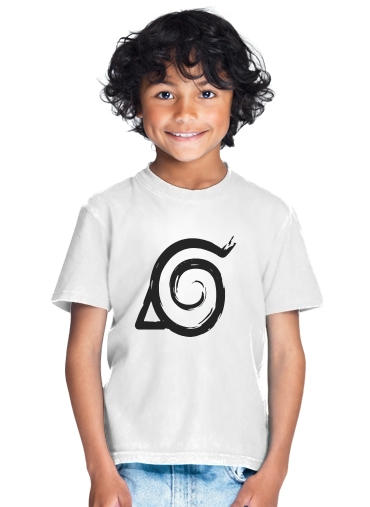 Konoha Symbol Grunge art for Kids T-Shirt