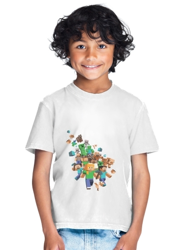 Minecraft Creeper Forest for Kids T-Shirt