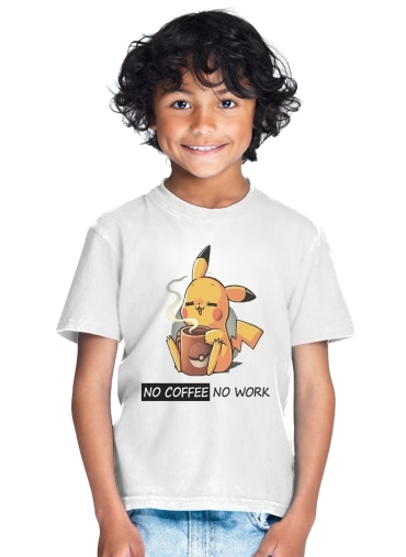 Pikachu Coffee Addict for Kids T-Shirt