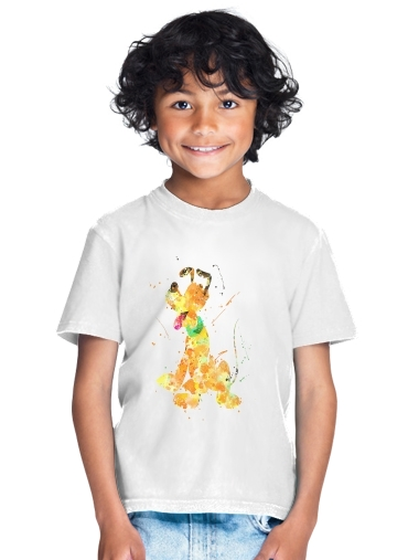 Pluto watercolor art for Kids T-Shirt