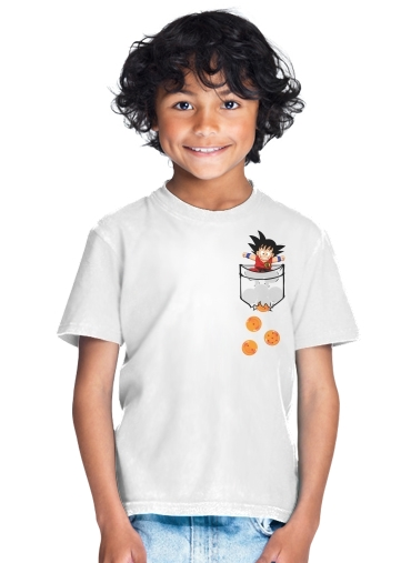 Pocket Collection: Goku Dragon Balls for Kids T-Shirt