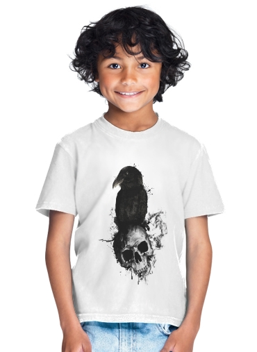 Raven and Skull for Kids T-Shirt