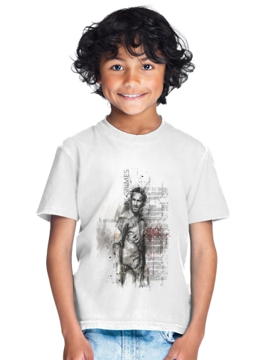Grunge Rick Grimes Twd for Kids T-Shirt