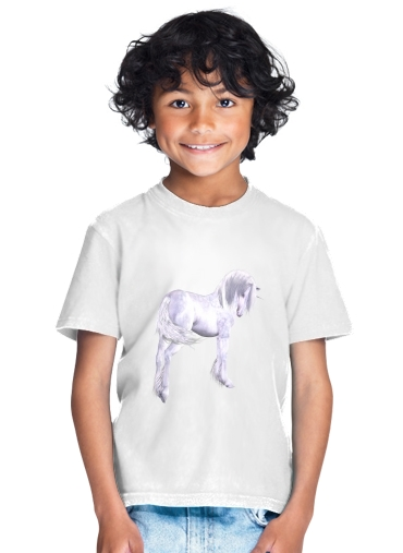 Silver Unicorn for Kids T-Shirt