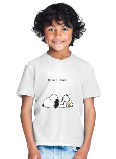 Snoopy No Not Today for Kids T-Shirt