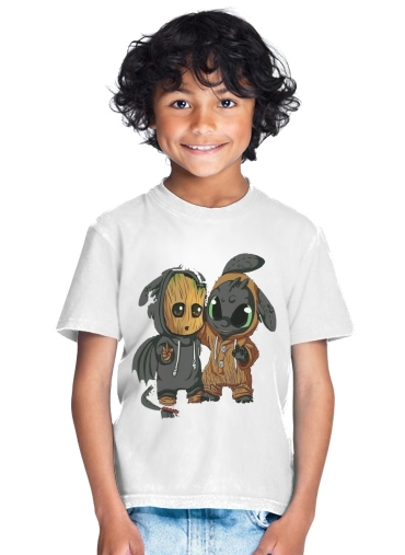 Groot x Dragon krokmou for Kids T-Shirt