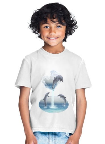 The Heart Of The Dolphins for Kids T-Shirt