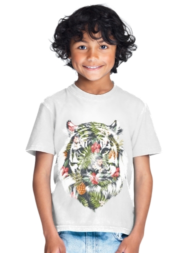 Tropical Tiger for Kids T-Shirt