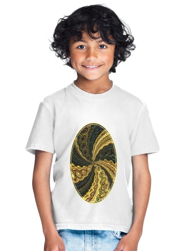 Twirl and Twist black and gold for Kids T-Shirt