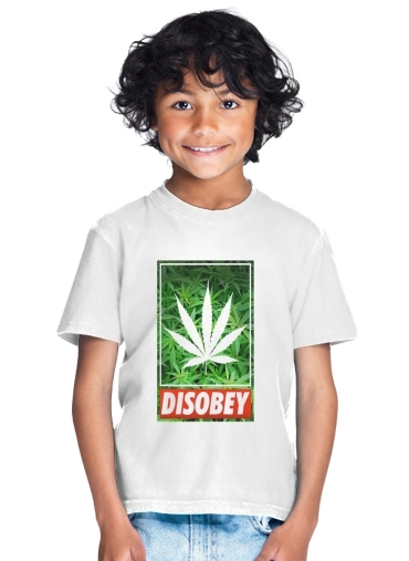 Weed Cannabis Disobey for Kids T-Shirt