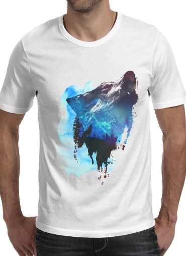 Alone as a wolf for Men T-Shirt