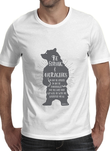 T-Shirts Be Strong and courageous Joshua 1v9 Bear