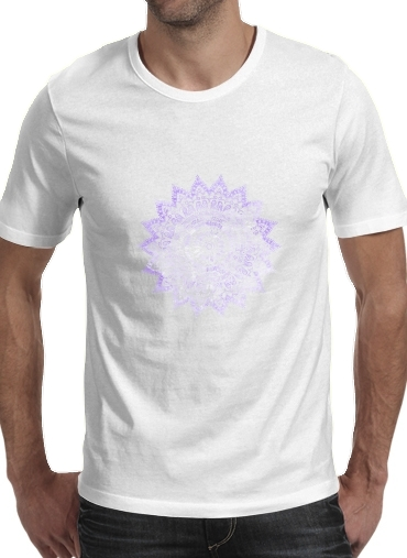 T-Shirts Bohemian Flower Mandala in purple