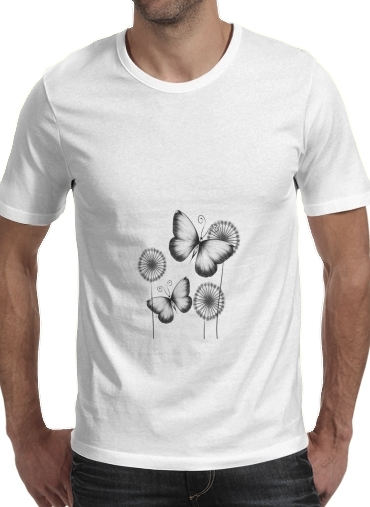 Butterflies Dandelion for Men T-Shirt