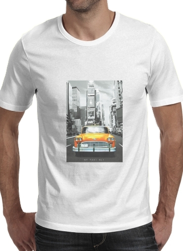 Yellow taxi City of New York City for Men T-Shirt
