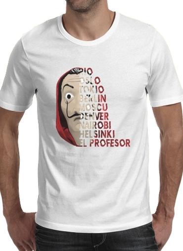 T-Shirts Casa de Papel Mask Vilain