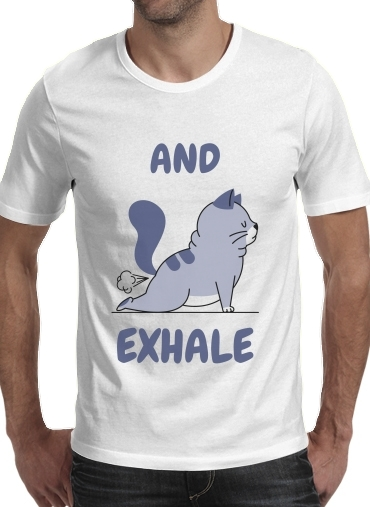 T-Shirts Cat Yoga Exhale