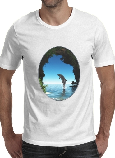 Dolphin in a hidden cave for Men T-Shirt
