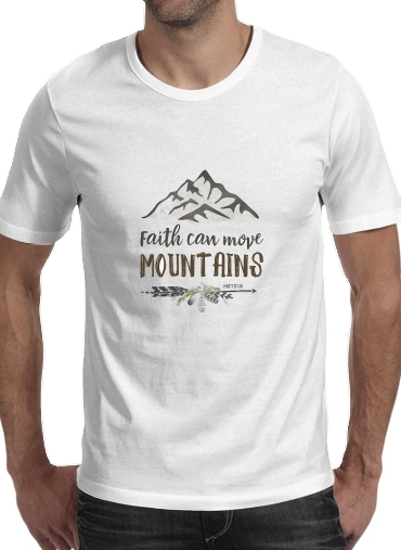 T-Shirts Faith can move montains Matt 17v20 Bible Blessed Art