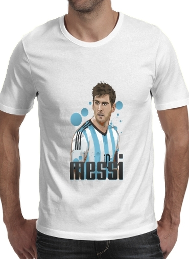 Football Legends: Lionel Messi World Cup 2014 for Men T-Shirt