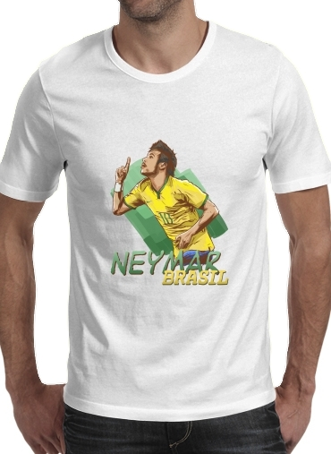 Football Stars: Neymar Jr - Brasil for Men T-Shirt