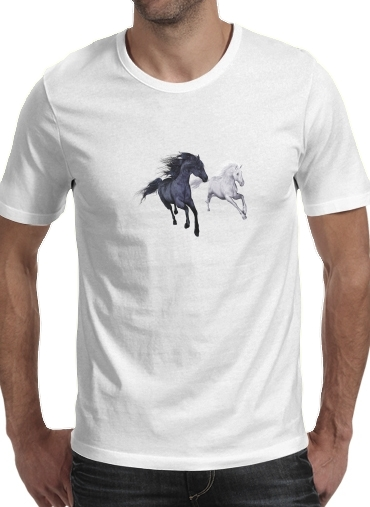 Horse freedom in the snow for Men T-Shirt