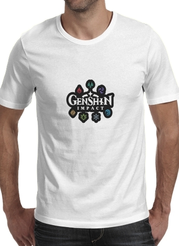 T-Shirts Genshin impact elements