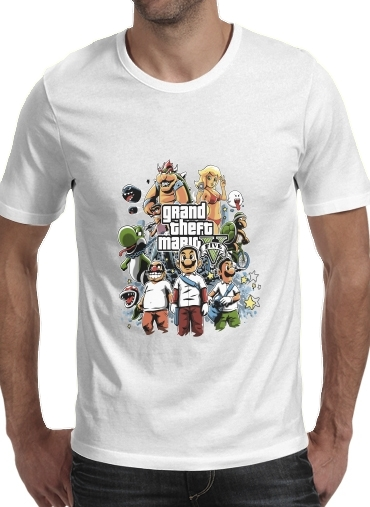 Grand Theft Mario for Men T-Shirt