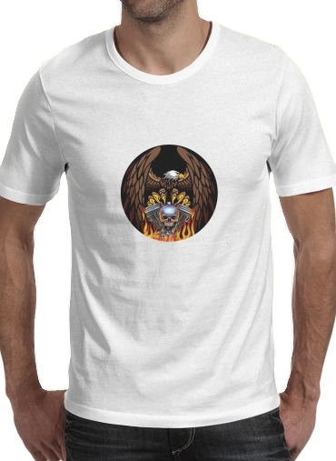 Harley Davidson Skull Engine for Men T-Shirt