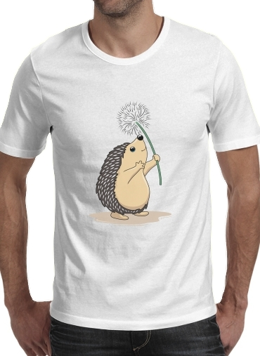 T-Shirts Hedgehog play dandelion
