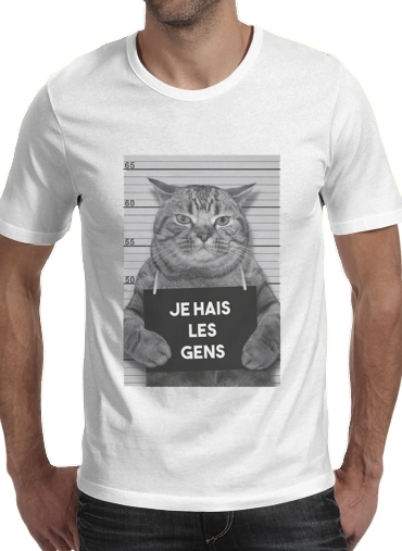 T-Shirts I hate people Cat Jail