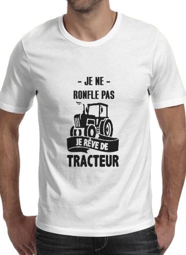 T-Shirts Je ne ronfle pas je reve de tracteur